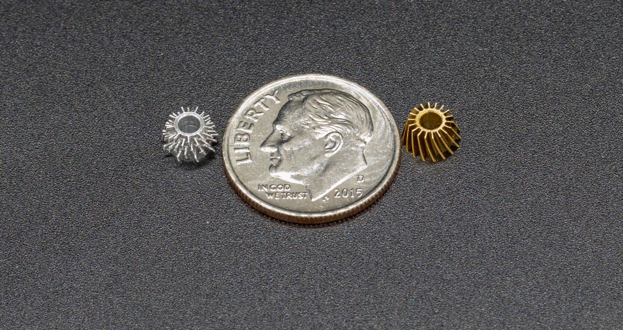 Aluminum and Brass Microturbines